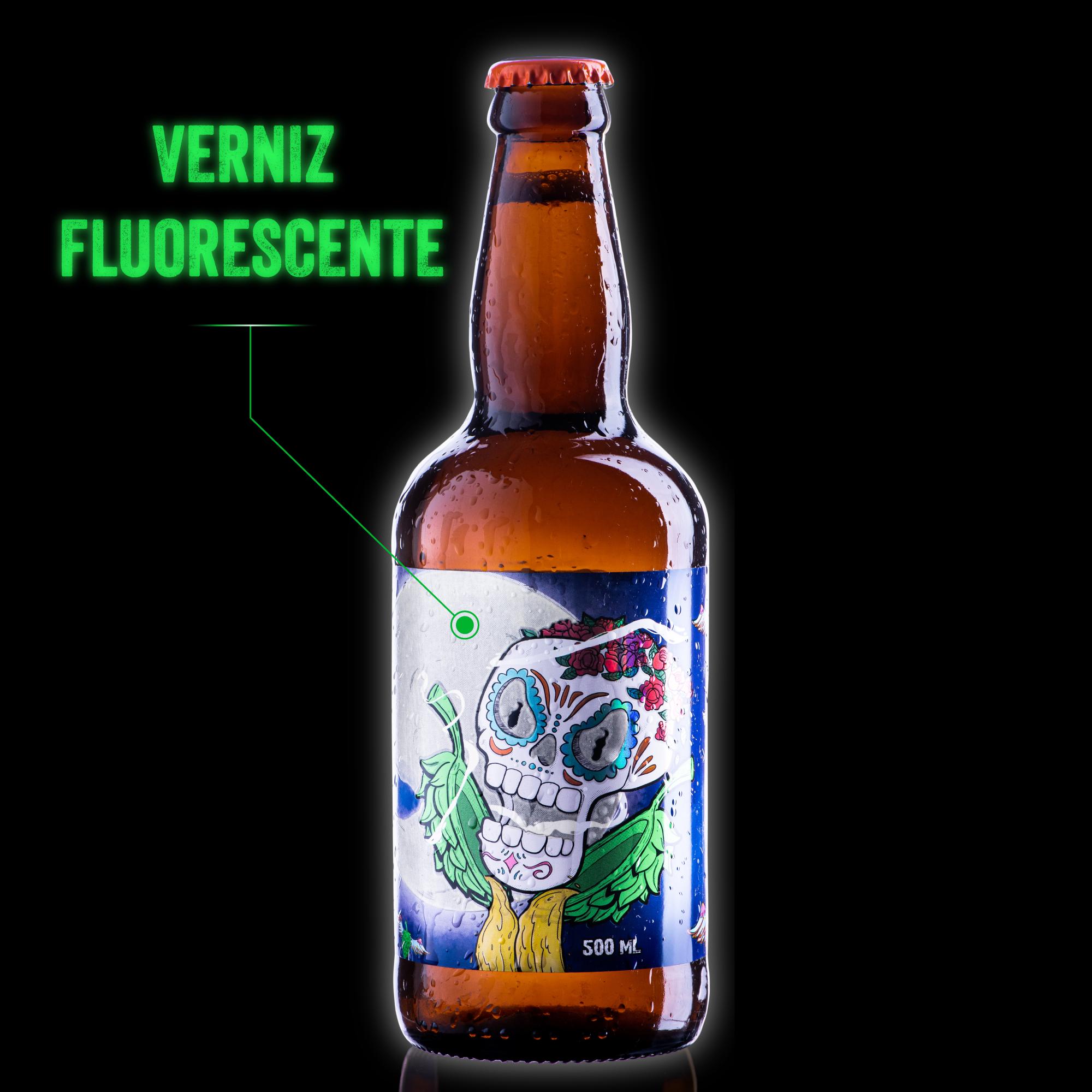 Rótulo LabelBeer - Dia de los amarillos - Verniz Fluorescente - Imagina sua cerveja com abóbora com esse efeito!