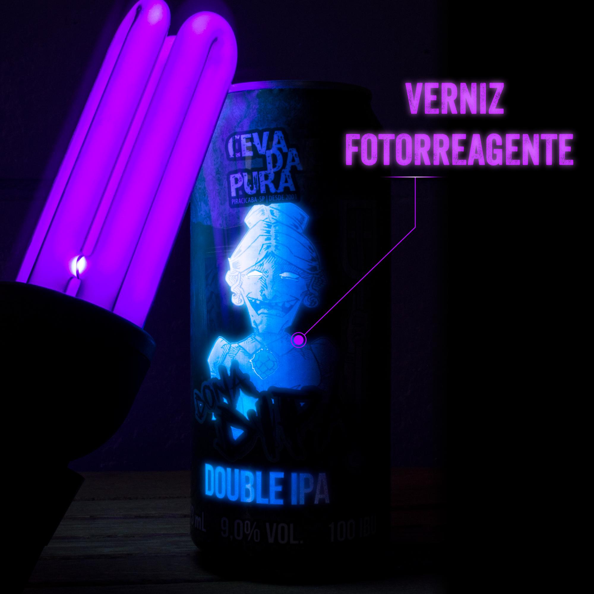 Rótulo Dona Dipa - Cevada Pura - Verniz Fotorreagente